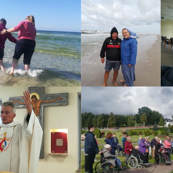 Białogóra na Kaszubach -wrzesień 2021. Rekolekcje dla chorych, starszych z wolontariuszami i siostrami….